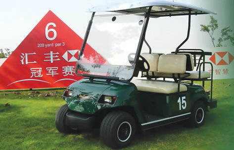 Green 4 Seaters Electric Golf Car (LT-A2+2)