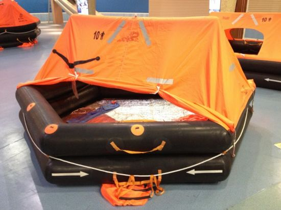 Throw-Over Board 25 Persons Rubber Inflatable Life Rafts for Sale