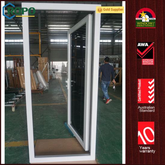 China Upvc High Hurricane Impact Glass Swing Out Entry Doors China