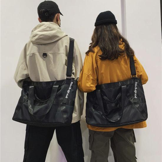 Popular Logo Street Student Single-Shoulder Cross-Body Bag with Large Capacity Lightweight Duffel Bag for Men and Women