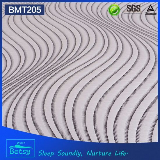 OEM Compressed Foam Mattress 30cm High with Gel Memory Foam and Knitted Fabric Zipper Cover pictures & photos
