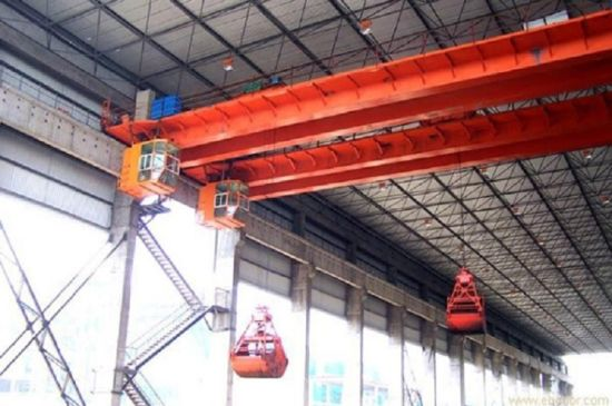 Double Girder Overhead Crane with Grab pictures & photos