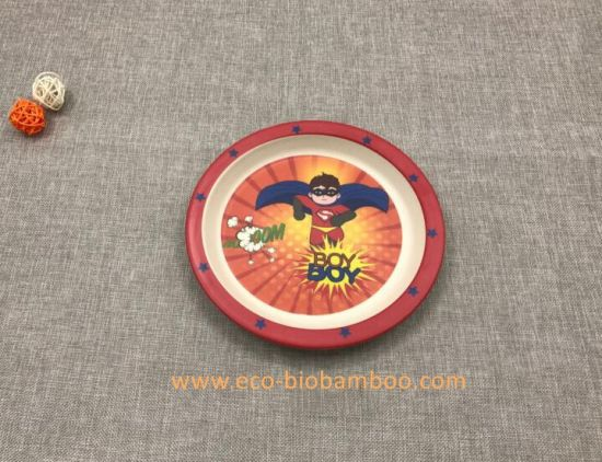 FDA Approved Natural Bamboo Fiber Biodegradable Print Plate (YK-P3021) pictures & photos