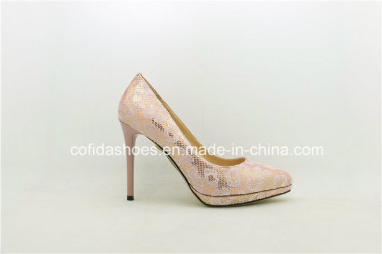 New Fashion Sexy Platform High Heels Leather Women Shoes pictures & photos