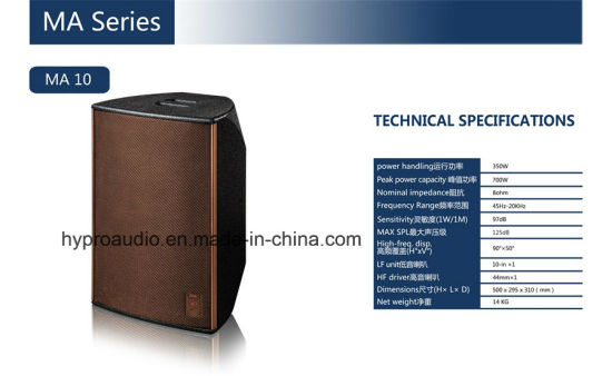 Ma10 KTV Loud Speaker Passive Mini Audio pictures & photos