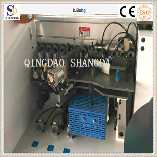 High Efficiency 3mm PVC Electric Double Sides Edge Banding Machine/Beveled  Edge Tape Sealing Machine for Wooden Furniture Processing with Ce and ISO