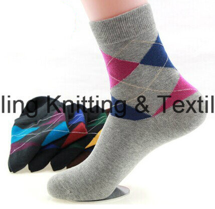 China Socks Factory Cotton Custom Logo Dress Men Socks pictures & photos