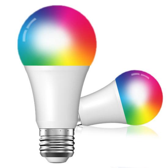 Colorful RGB+W WiFi Tuya Light Bulb Smart LED Lamp with APP Voice Control  Smart Home Wireless Light Bulb