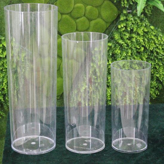 China 55 X 118 Clear Acrylic Cylinder Vase China Acrylic