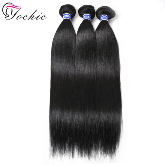Double Weft Wholesale Straight Peruvian Hair Weave Bundles 8-30 Inch Peruvian Virgin Hair Bundle Deals Natural Remy 100% Human Hair Weave Extensions