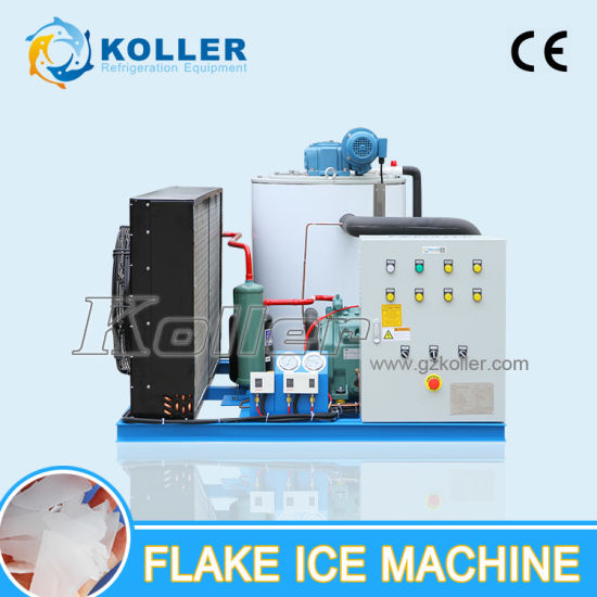 2000kg/Day Air Cooled Flake Ice Maker with Ice Storage Bin pictures & photos