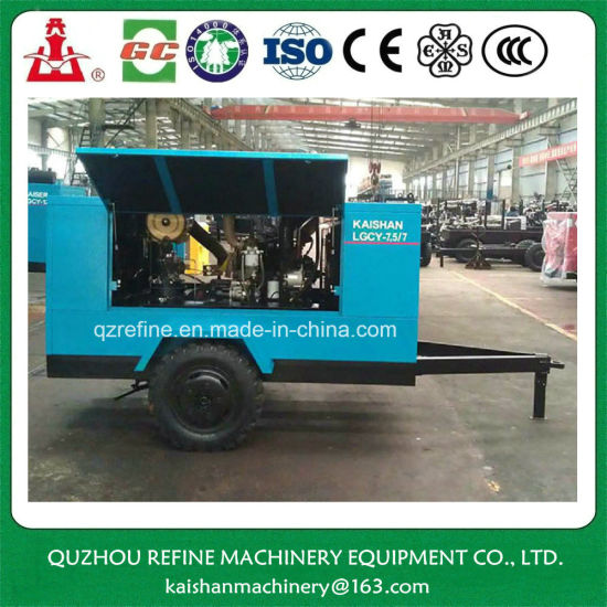 Kaishan LGCY-7.5/7 Yuchai Diesel Drive 100psig Portable Screw Air Compressor pictures & photos