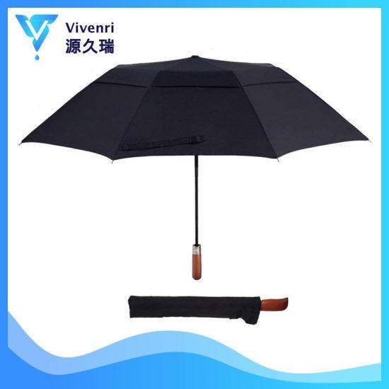 2c4f044f22b5 Two Fold Double Layer Umbrellas 50 Inch Automatic Open Golf Umbrella