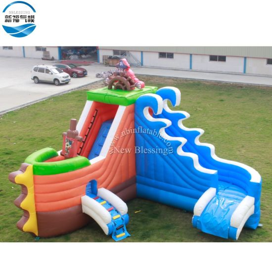 Wholesale Funny Outdoor Kids Playing Inflatable Water Slide pictures & photos