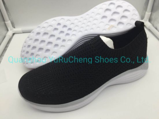 Women Shoes with Flyknit Upper and Soft Latex Insole and MD Outsole