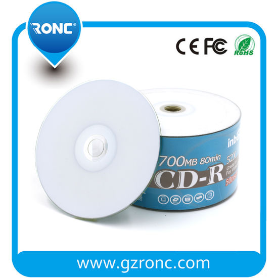 White Surface Non-Printable Blank CD-R 52X Wholesaler