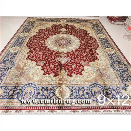 China 9x12 Large Area Rugs Oriental Handmade Persian Silk Carpets For Living Room Bedroom China 9x12 Large Silk Carpets And Large Silk Carpets Price