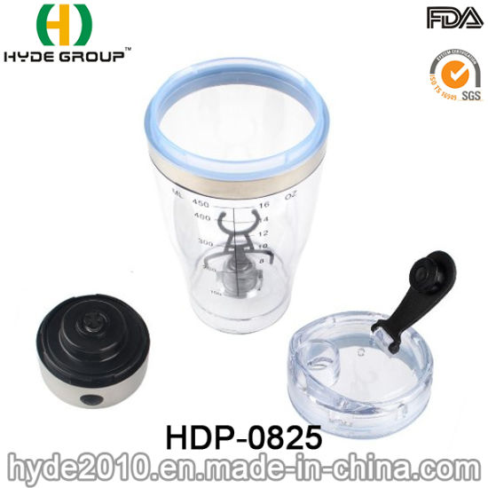 2016 BPA Free Plastic Protein Electric Shaker Bottle, Customized Plastic Electric Protein Shaker Water Bottle (HDP-0825) pictures & photos