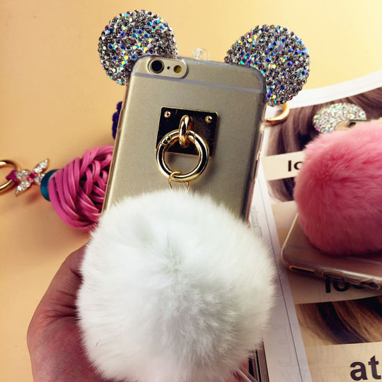 Diamond Mickey Ears TPU Mobile Phone Accessories Case for iPhone 7 pictures & photos