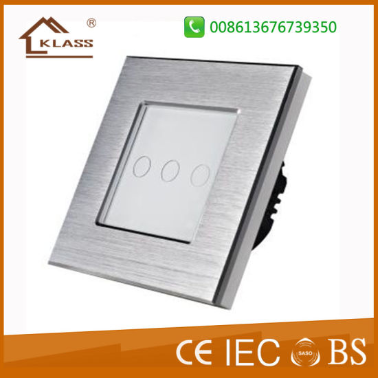 China Top Quality Brushed Aluminum Metal Wall Light Switch, Ce RoHS ...