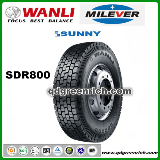 Wanli / Milever / Sunny / Double Coin /Aeolus 11r22.5 12r22.5, 315/80r22.5 All Steel Radial Truck and Bus Tyres, TBR Tyres SDR800 pictures & photos