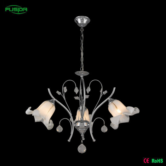 Modern Flower Crystal Chandelier with Glass LED (D-9480/5) pictures & photos