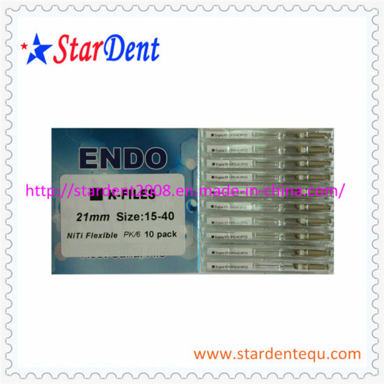 Hot Dental Niti K-Files Engine of Dental Medical Product pictures & photos