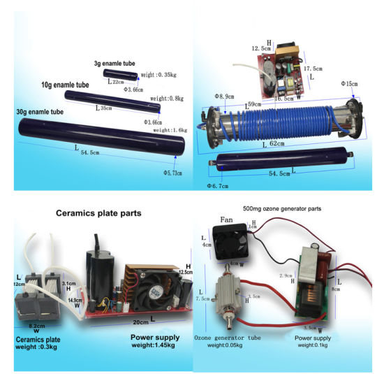 Set Output 1g//h 2g//h Ceramic Plate Circuit Board Ozone Generator Air Purifier