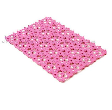 Custom Colorful Water Proof Antiskid Splice Plastic Bath Bathroom Mat