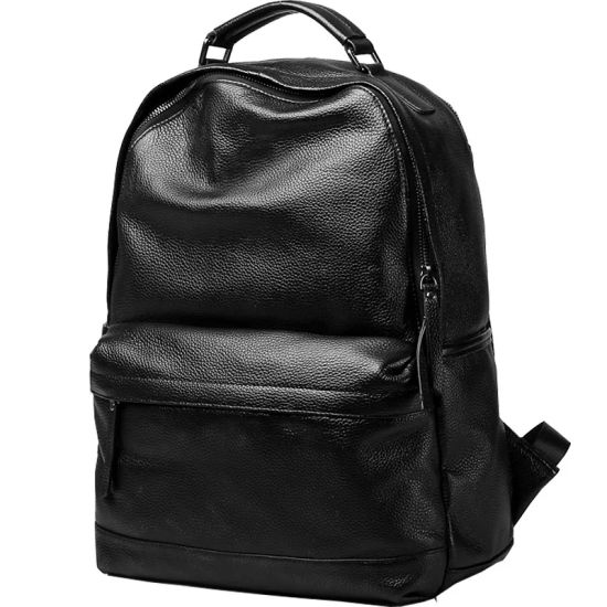 New Style Fashionable Simple Casual Business Leather Backpack pictures & photos