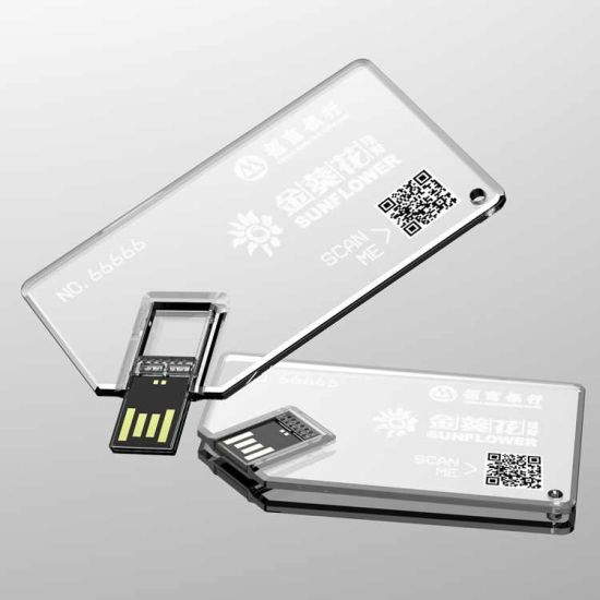 New Products Acrylic Transparent USB Flash Card for Hot-Selling pictures & photos