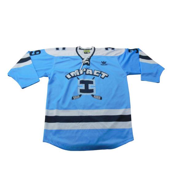 Custom Goldleaf Apparel Wholesale High Quality Winning Ice Hockey Uniform / Embroidery Tackle Twill Ice Hockey Uniform