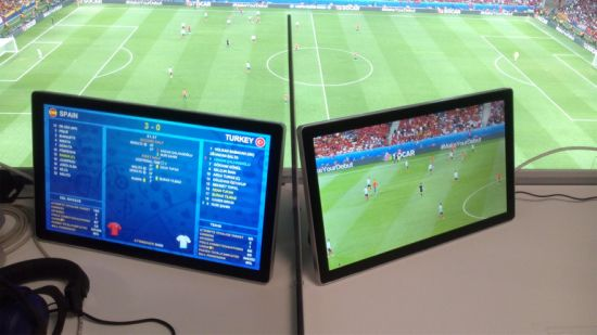 17.5-Inch IP43 Water-Resistant/Waterproof TV Custom-Made for Euro 2016 Event pictures & photos