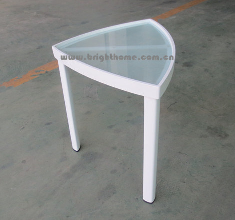 Aluminum Side Table with Tempered Glass Top pictures & photos