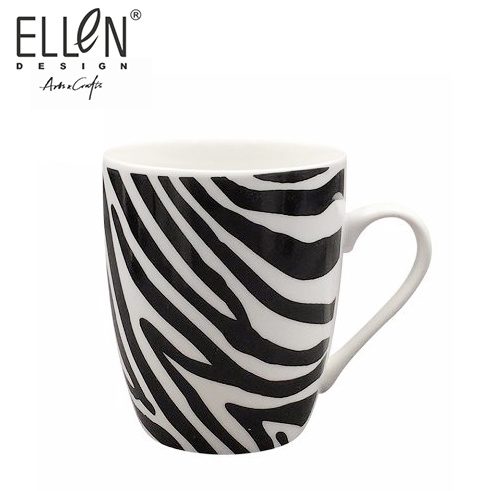 350ml Promotional New Bone China porcelain Decal Coffee Mugs