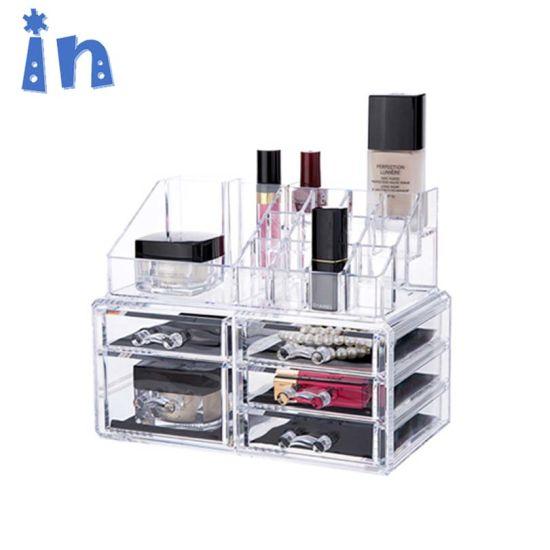 China Acrylic Makeup Organizer 2 Drawers Cosmetic Jewelry
