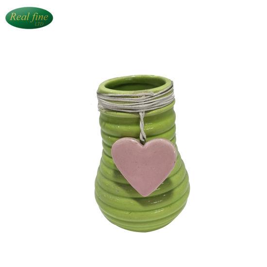 China Hot Sale Ceramic Small Bottle Flower Vase Shape Decor Gifts