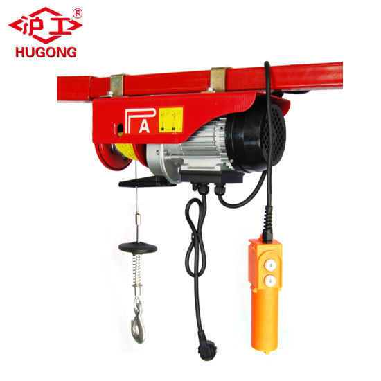 Electric Hoist 100//200KG Load Capacity Electric Cable Hoist Lifting Wire Hanging Crane 220V Electric Wire Rope Hoist