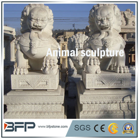 Animal White Natural Granite Carved Stone/ Statues/Sculpture for Garden Decoration