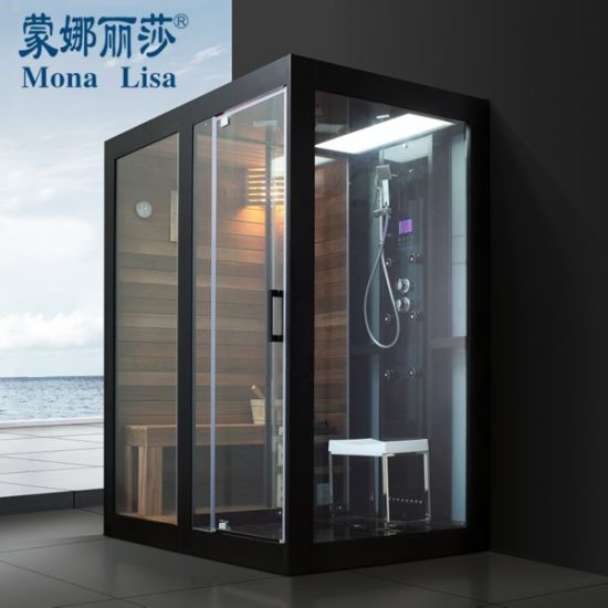 Dry Wet Steam Shower Room with Sauna Enclosure