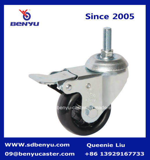 Screw Type High Temperature Caster with Twin Brake