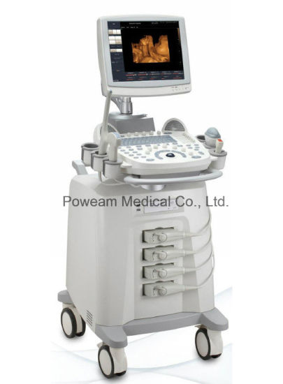 Hospital Mobile Echo Cardiograph Cardiac Ultrasound 3D 4D Color Doppler (D60) pictures & photos