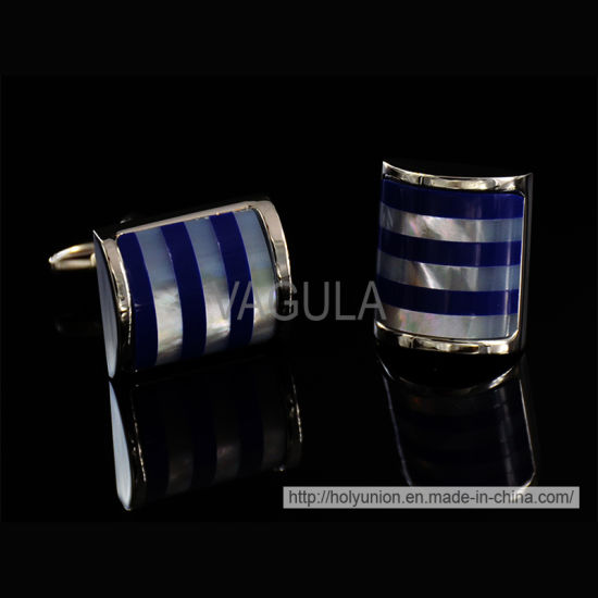VAGULA Stylish Silver Catseye Cufflinks