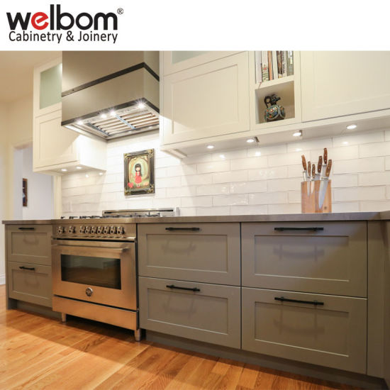 Welbom American Cherry Sharker Style Kitchen Cabinets pictures & photos