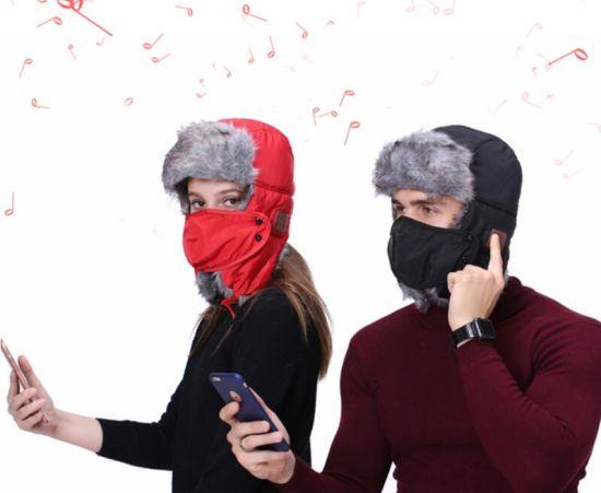 Face Mask Ski Winter Hat Bluetooth Speakers Rusos Ushanka