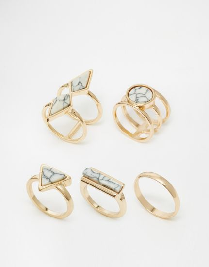 Geometric Element Turquoise Ring