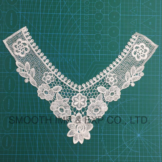 China Fashion Cotton Water Soluble Embroidered Neckties Crochet Lace