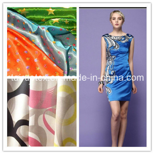 Printing Polyester Satin for Dress with Good Quality