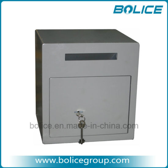 Small Size Front Loading Drop Slot Undercount Key Lock Depository Safe Box pictures & photos