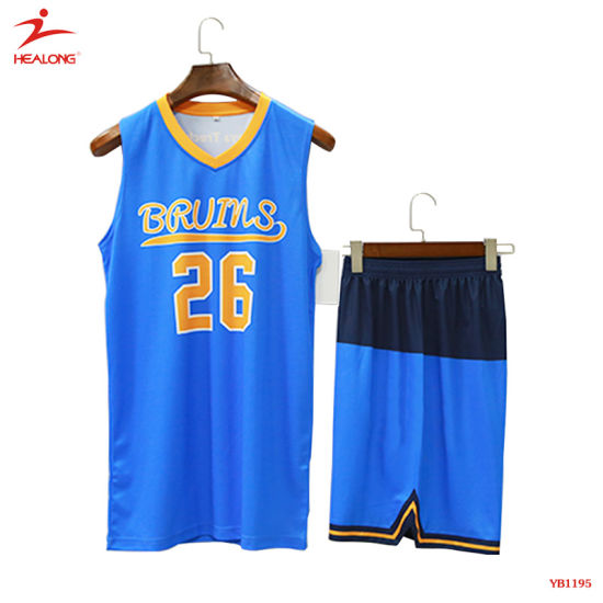 74783808d99e Healong Sublimation Print European Size Fashion Design Basketball Uniforms  pictures   photos